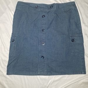 Pendleton knee length denim skirt 14